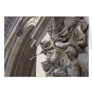Relief sculpture on Arc de Triomphe in Paris, Card