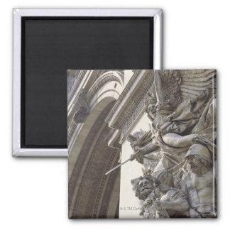 Relief sculpture on Arc de Triomphe in Paris Fridge Magnet