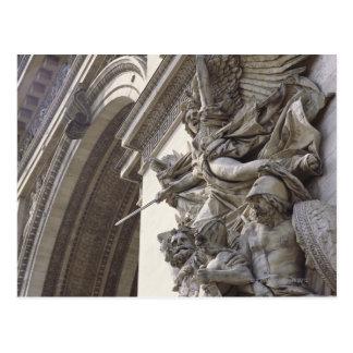 Relief sculpture on Arc de Triomphe in Paris, Postcard