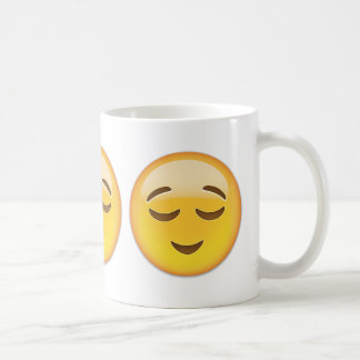 Relieved Face Emoji Coffee Mug