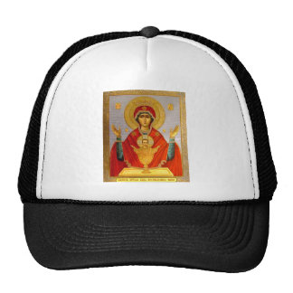 religeous icon holy mary and child trucker hat