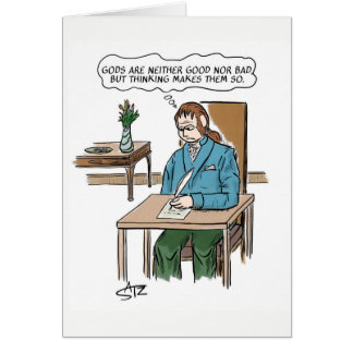 Religion and philosophy greeting card