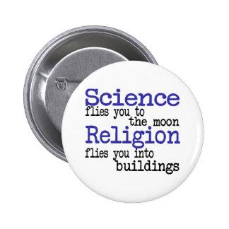 Religion and Science 6 Cm Round Badge