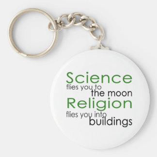 Religion and Science Key Ring