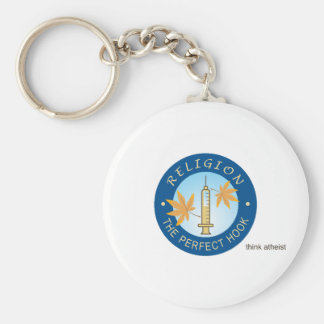 Religion as a Drug Classic Button Keychain