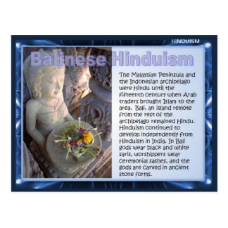 Religion, Balinese Hinduism Postcard