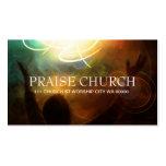 Religion Christian Pastor Spiritual Church Praise Business Card Templates