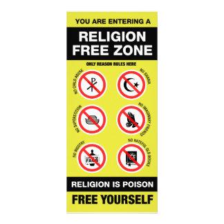 Religion Free Zone Customised Rack Card