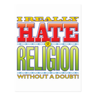 Religion Hate Face Post Cards