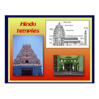 Religion, Hinduism, Hindu temples Postcard