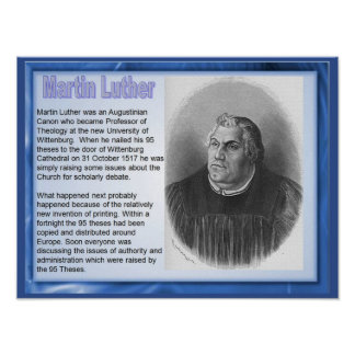 Religion, History, Reformation Martin Luther Poster