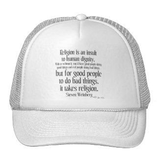 Religion Is An Insult Mesh Hats