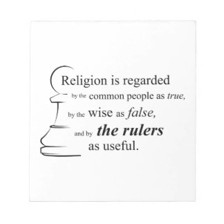 Religion is useful notepad