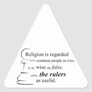 Religion is useful triangle sticker