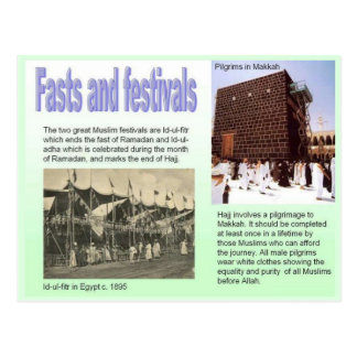 Religion, Islam, fasts and festivals Postcard