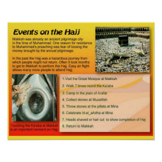 Religion, Islam Hajj events Poster