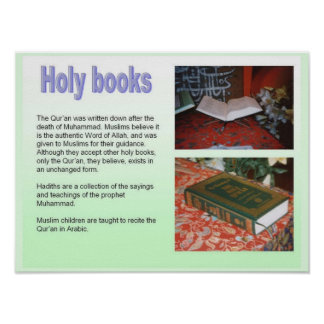 Religion, Islam, Holy Books Poster