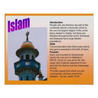 Religion, Islam, introduction Poster