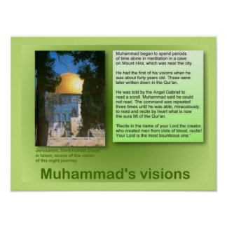 Religion, Islam, Muhammad's visions Poster