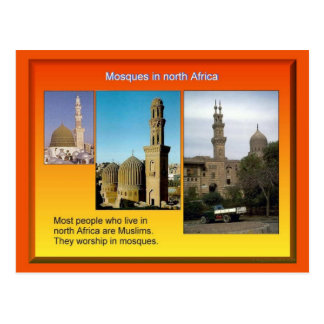 Religion, Islam, North African Mosques Postcard