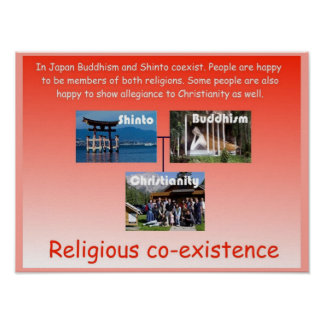 Religion, Japan, religious co-existence Poster