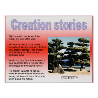 Religion, Japan, Shinto Creation stories Poster