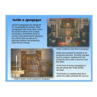 Religion, JUdaism, Inside a synagogue Postcard