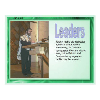Religion,  Judaism, Leaders Postcard