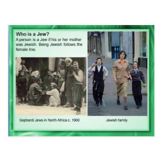 Religion, Judaism, Who is a Jew? Postcard