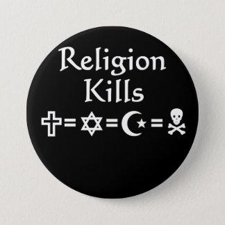 Religion Kills 7.5 Cm Round Badge