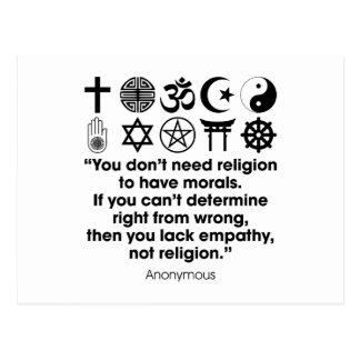 Religion Morals Postcard