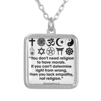 Religion Morals Silver Plated Necklace