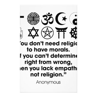 Religion Morals Stationery