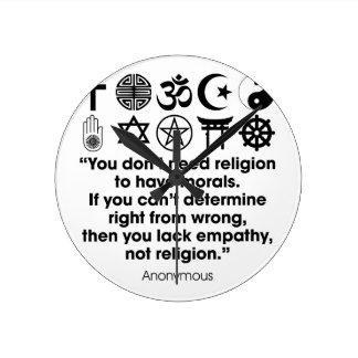 Religion Morals Wall Clocks