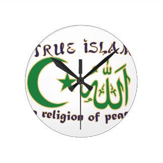 Religion Of Peace Wall Clocks