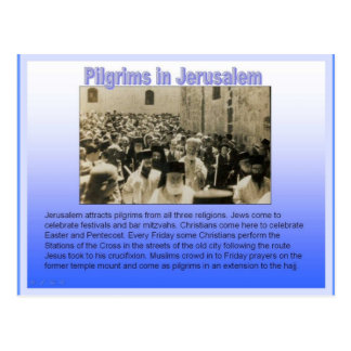 Religion, Pilgrims in Jerusalem Postcard