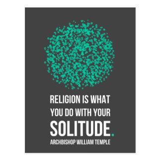 Religion Solitude Archbishop William Temple Quote Postcard