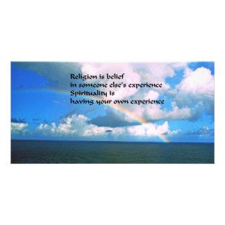 Religion Spirituality Customised Photo Card