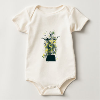 religion statue baby bodysuit