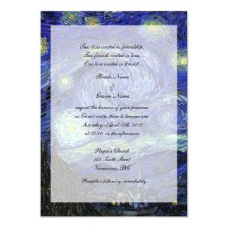 Religions, Christ wedding invitation, Starry Night 13 Cm X 18 Cm Invitation Card