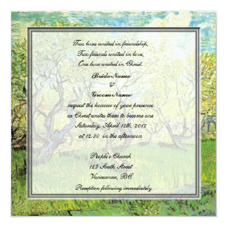 religion's wedding, van Gogh Orchard in Blossom Personalized Invitation