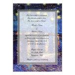 religion's wedding, van Gogh starry night Personalised Invite