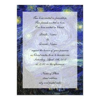 religion's wedding, van Gogh tstarry night Invite