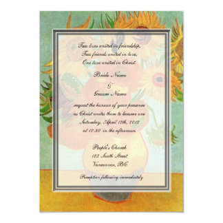 religion's wedding, van Gogh twelve sunflowers Card