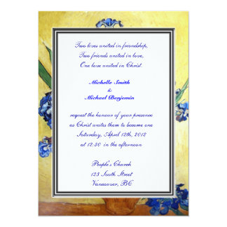 Religions wedding. Vincent van Gogh Personalized Invite