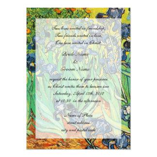 Religions wedding, Vincent van Gogh,Irises 14 Cm X 19 Cm Invitation Card