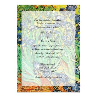Religions wedding, Vincent van Gogh,Irises Custom Invitation