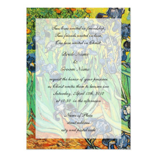 Religions wedding, Vincent van Gogh,Irises Invitation