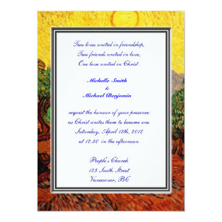 Religions wedding. Vincent van Gogh Olive Trees Custom Announcement