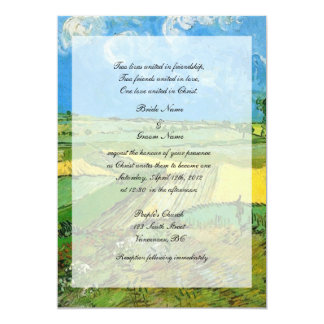 Religions wedding. Wheat Fields at Auvers Personalized Announcements